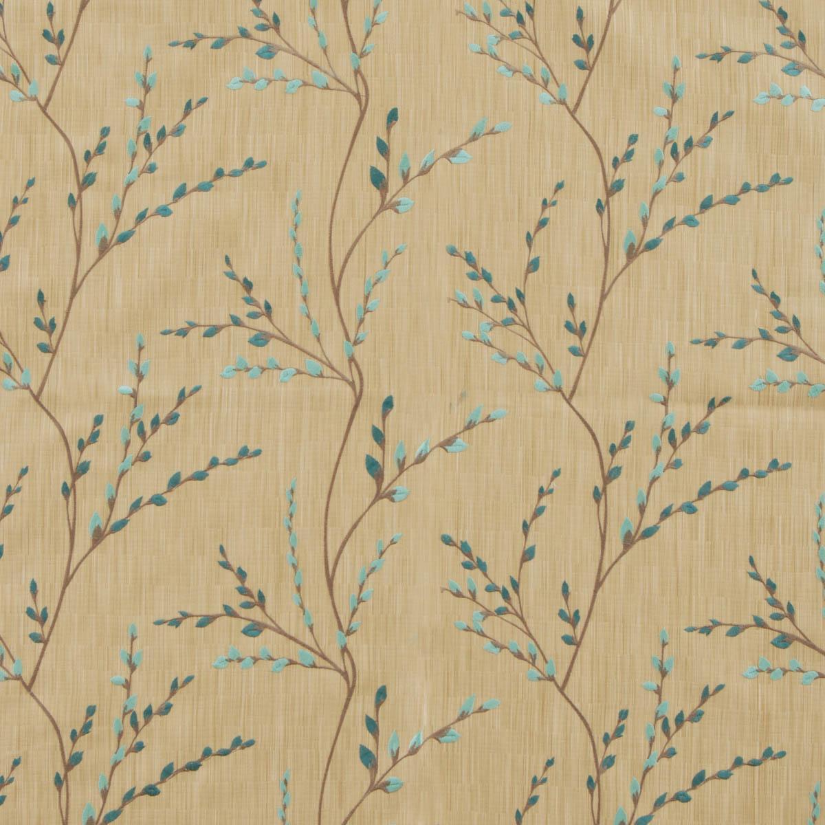 Eau De Nil Jasmine Jacquard Curtain Fabric Eau de Nil