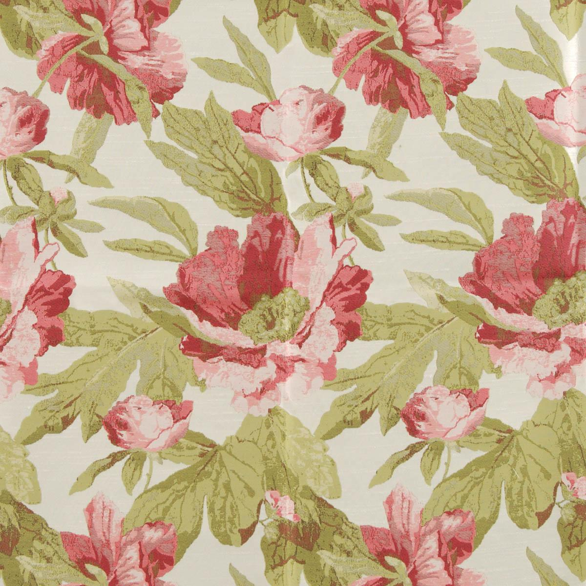 Coral Chateaux Curtain Fabric Coral