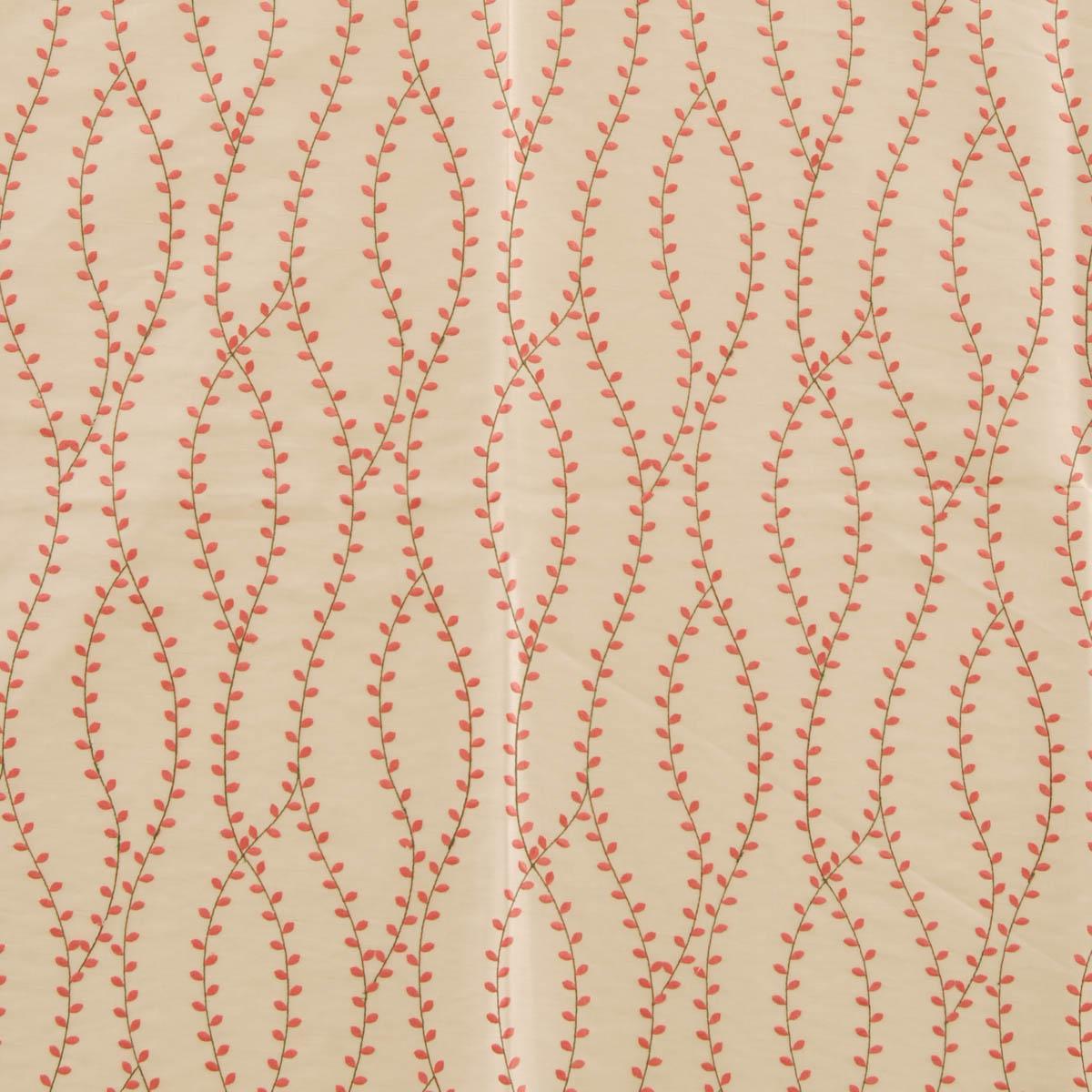 Coral Peridot Curtain Fabirc Coral