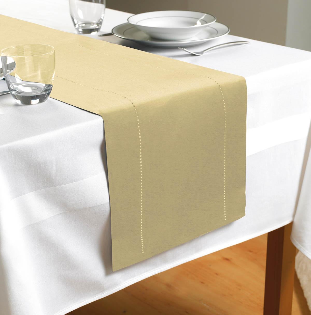 Table runner Shop for cheap products and Save online : hem stitch table runner cream from www.pricechaser.co.uk size 1200 x 1217 jpeg 94kB