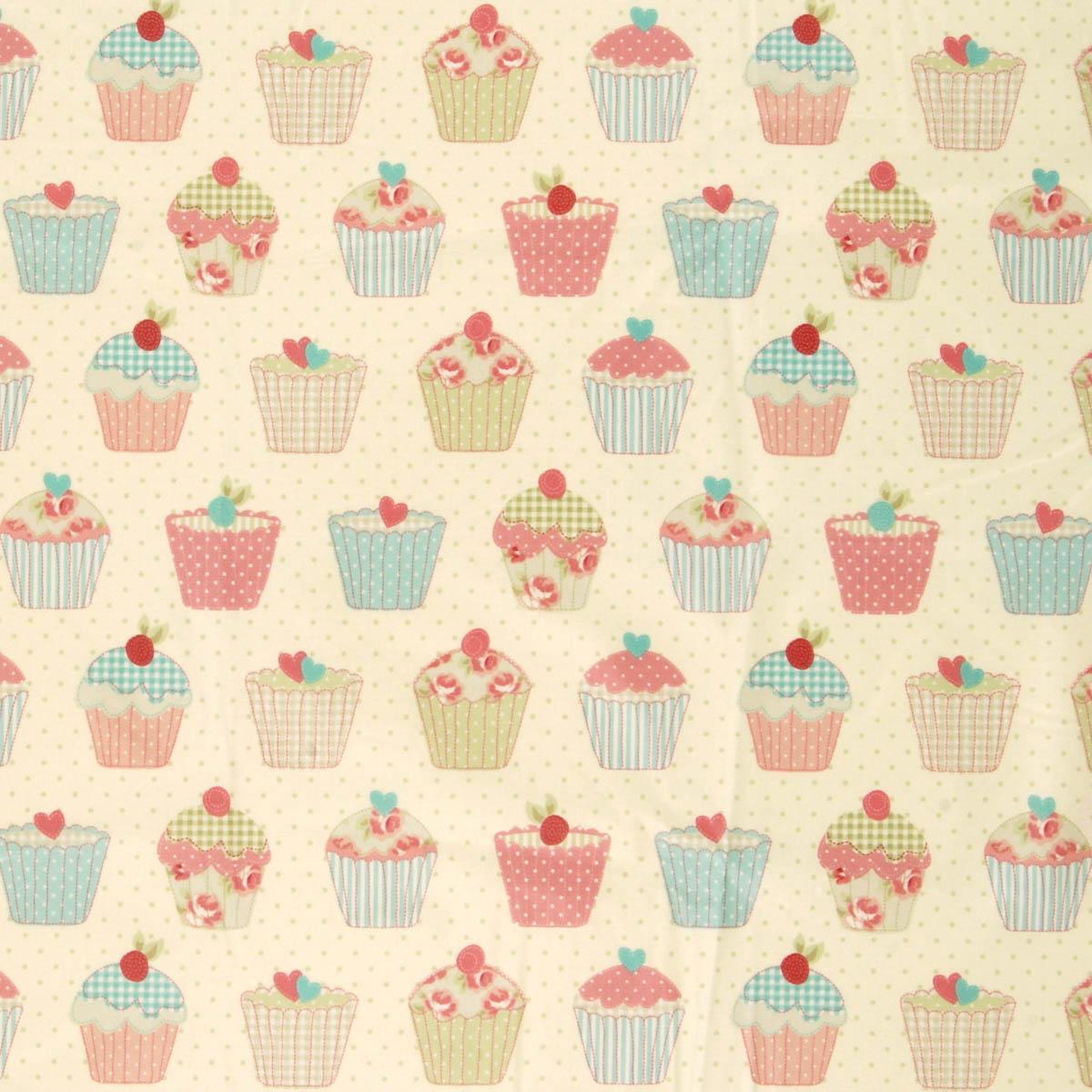 Multi Cupcakes PVC Fabric