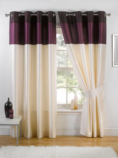 Aubergine Harmony Ready Made Eyelet Curtains