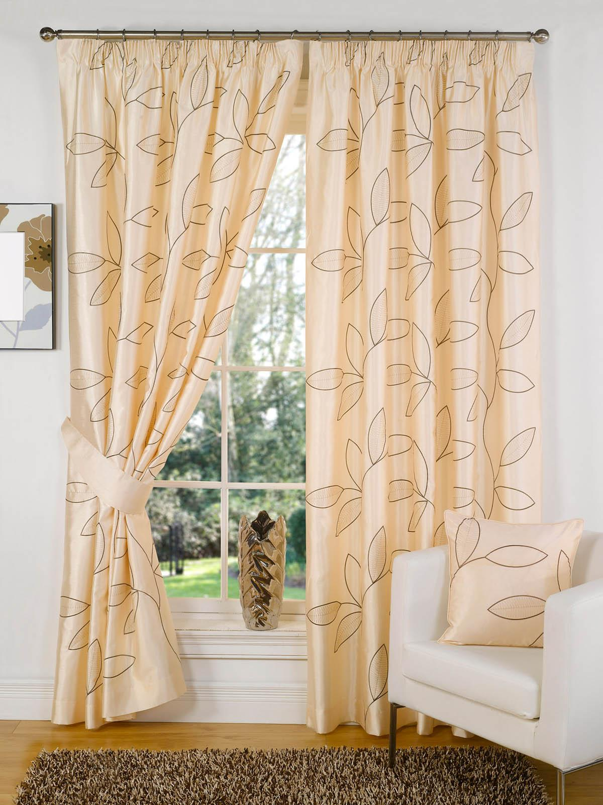 Buy cheap leaf curtain compare curtains blinds prices for Best place to buy fabric for curtains