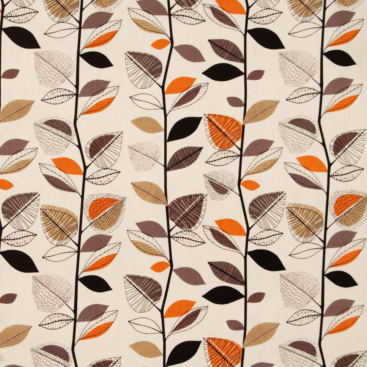 Amber Autumn Leaves Curtain Fabric