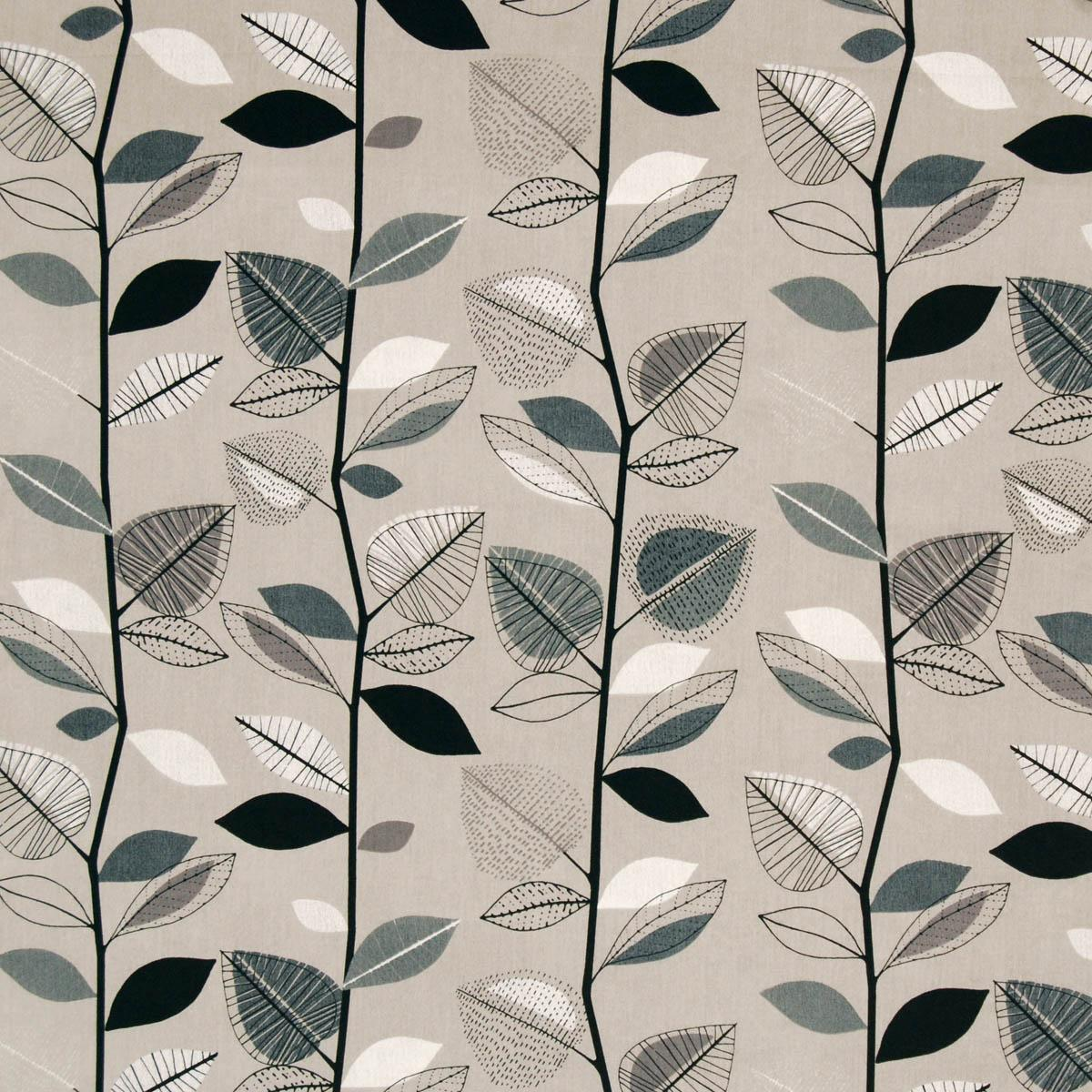 Sable Autumn Leaves Curtain Fabric