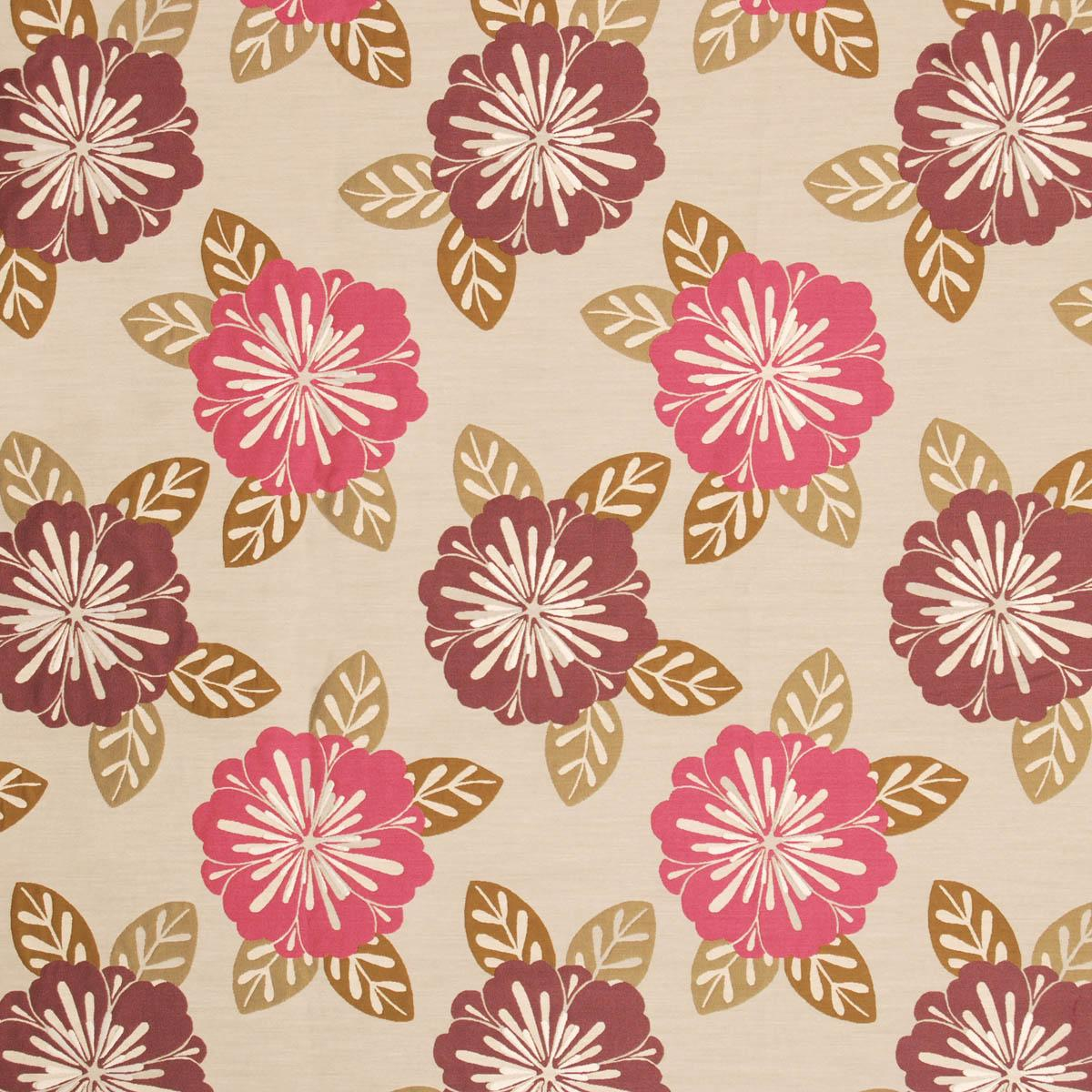 Fuchsia Neopolitan Curtain Fabric