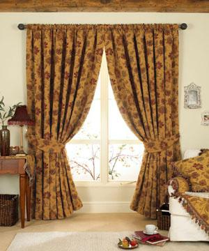 Gold Zurich Lined Ready Made Curtains