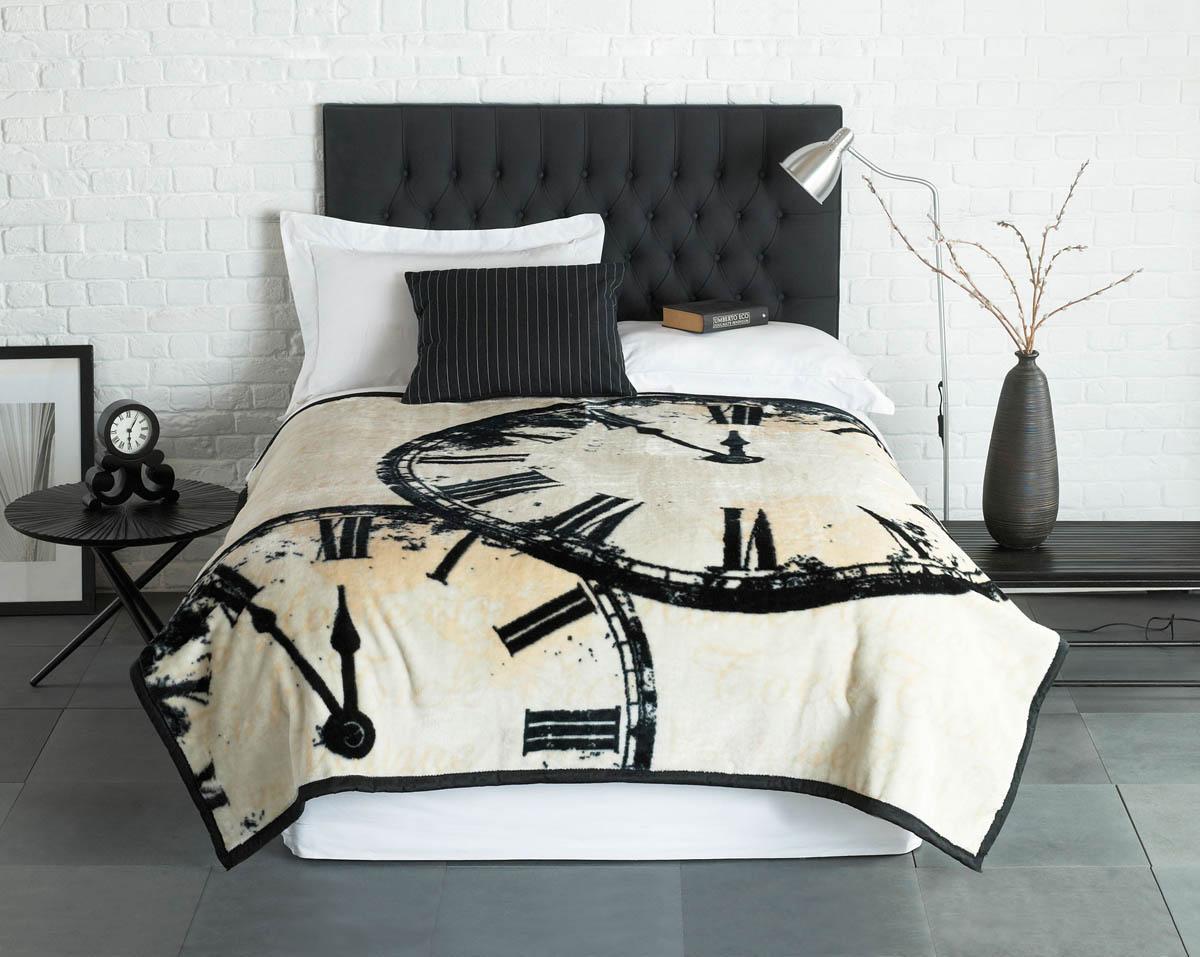 Black Vintage Clock Luxury Fleece Throw  Blanket