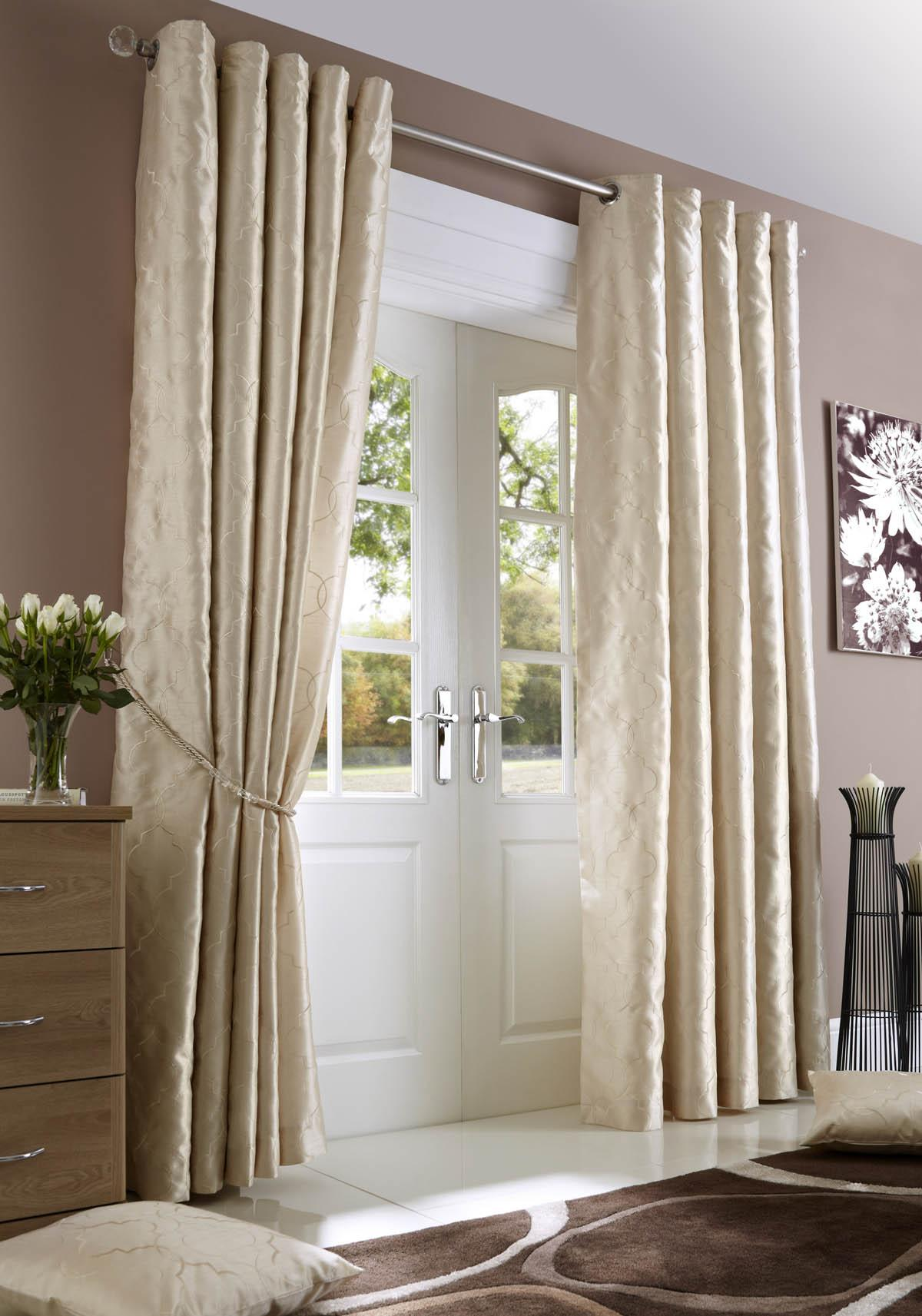 Cream Midtown Eyelet Lined Curtains