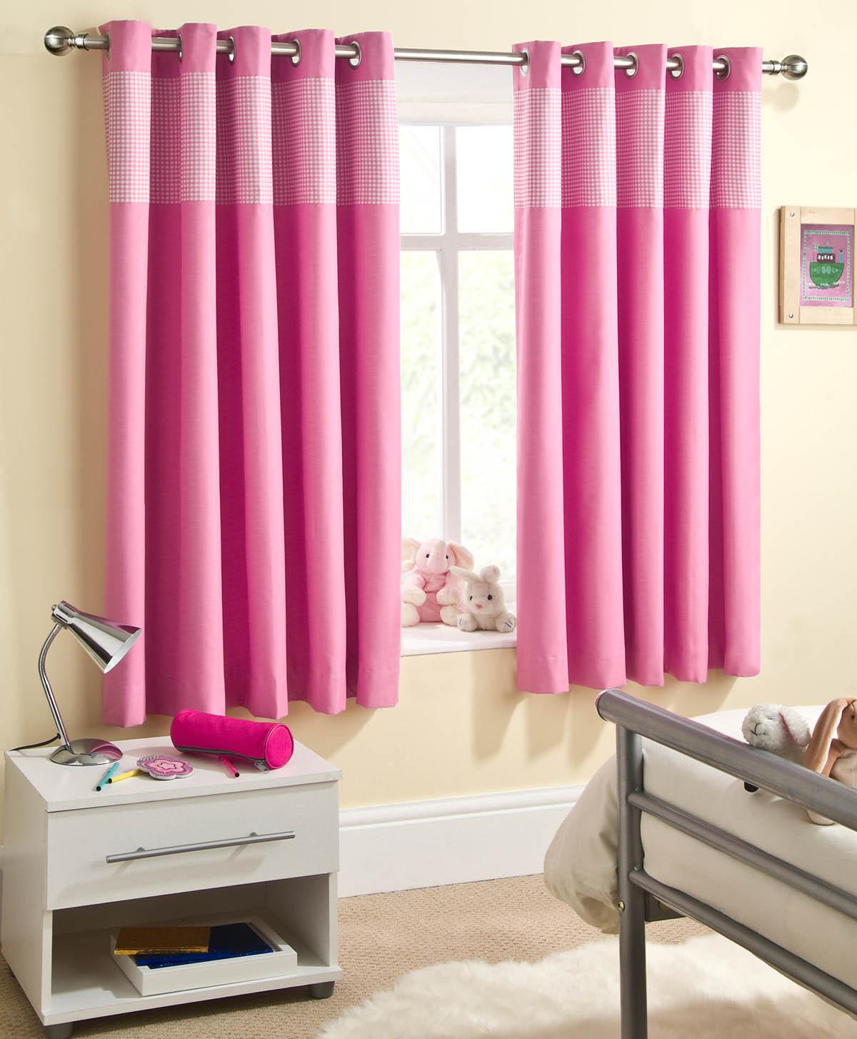 Sweetheart Children\'s Thermal Blackout Eyelet Curtains Blue, Pink ...