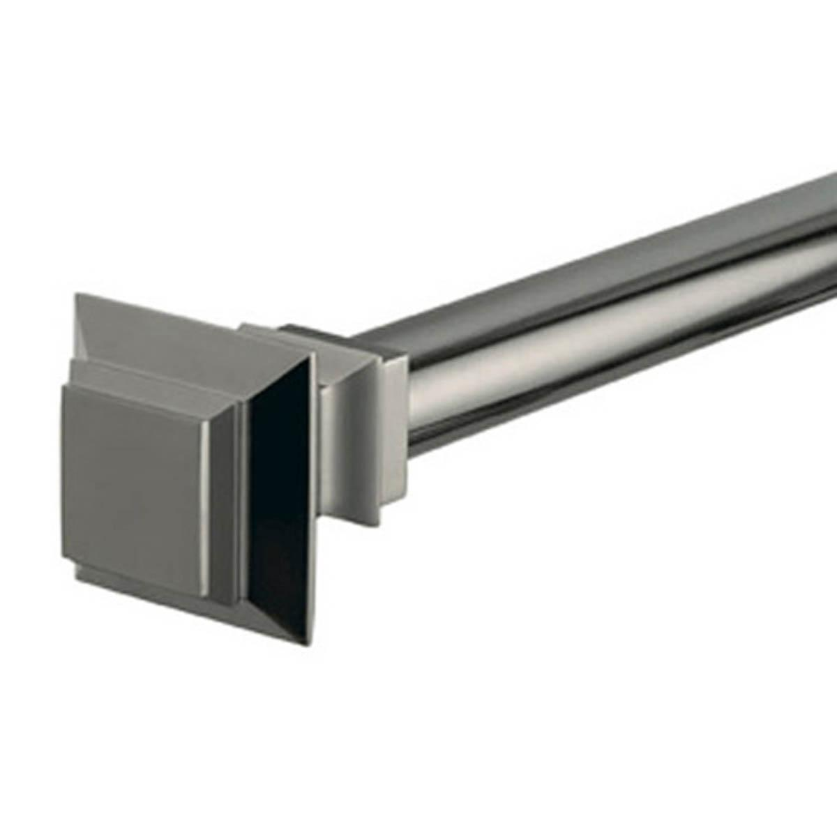 Graphite Squared Curtain Pole