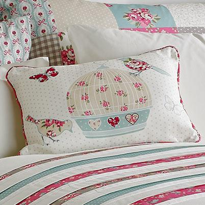 Multi Petticoat Birdcage Filled Boudoir Cushion