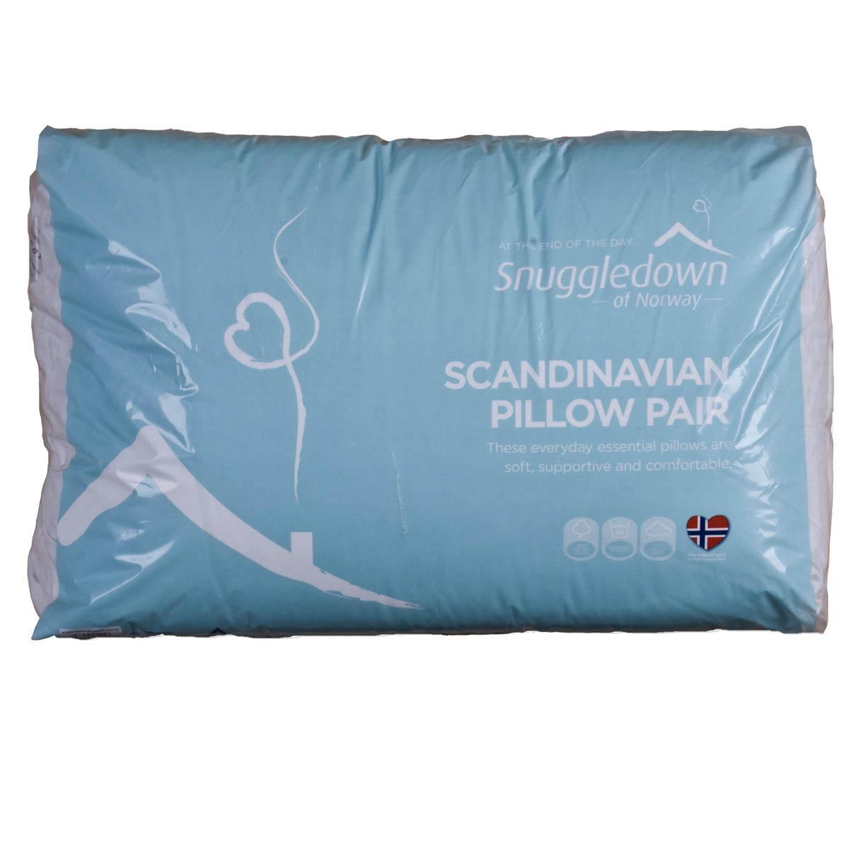 Snuggledown Scandinavian Pillow : White Snuggledown Scandinavian Pillow Pair