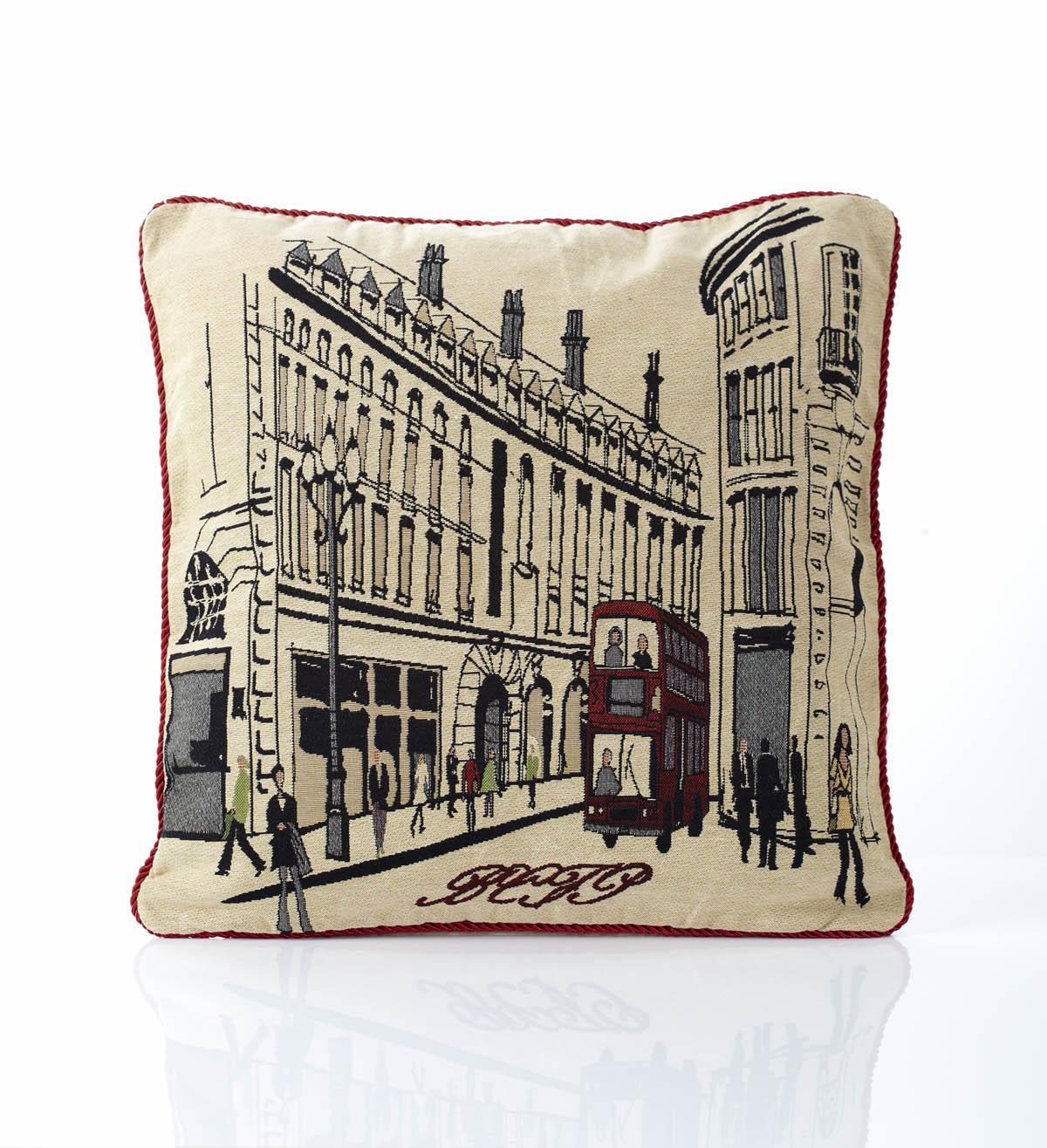 Multi Regent Street Tapestry Filled Cushion