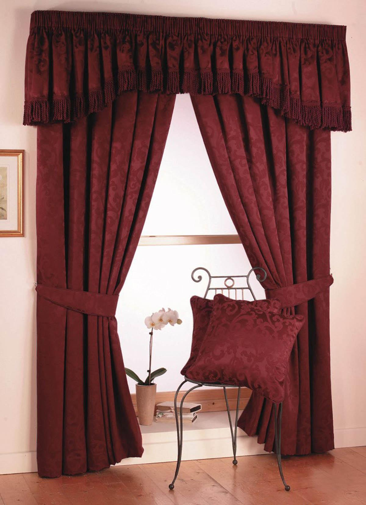 Red Eton Ready Made Curtains