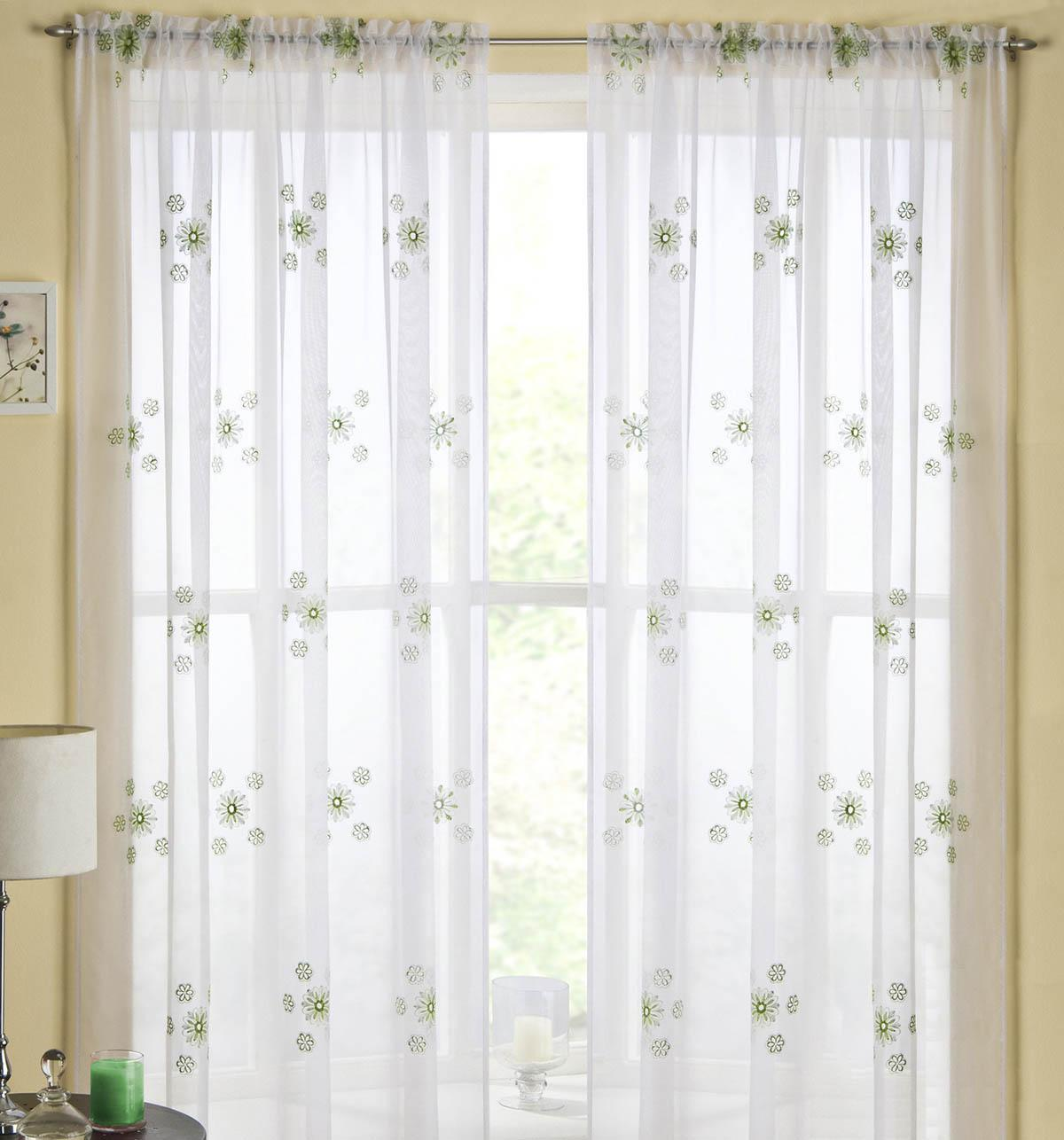 Green Adelaide Rod Pocket Voile Panel