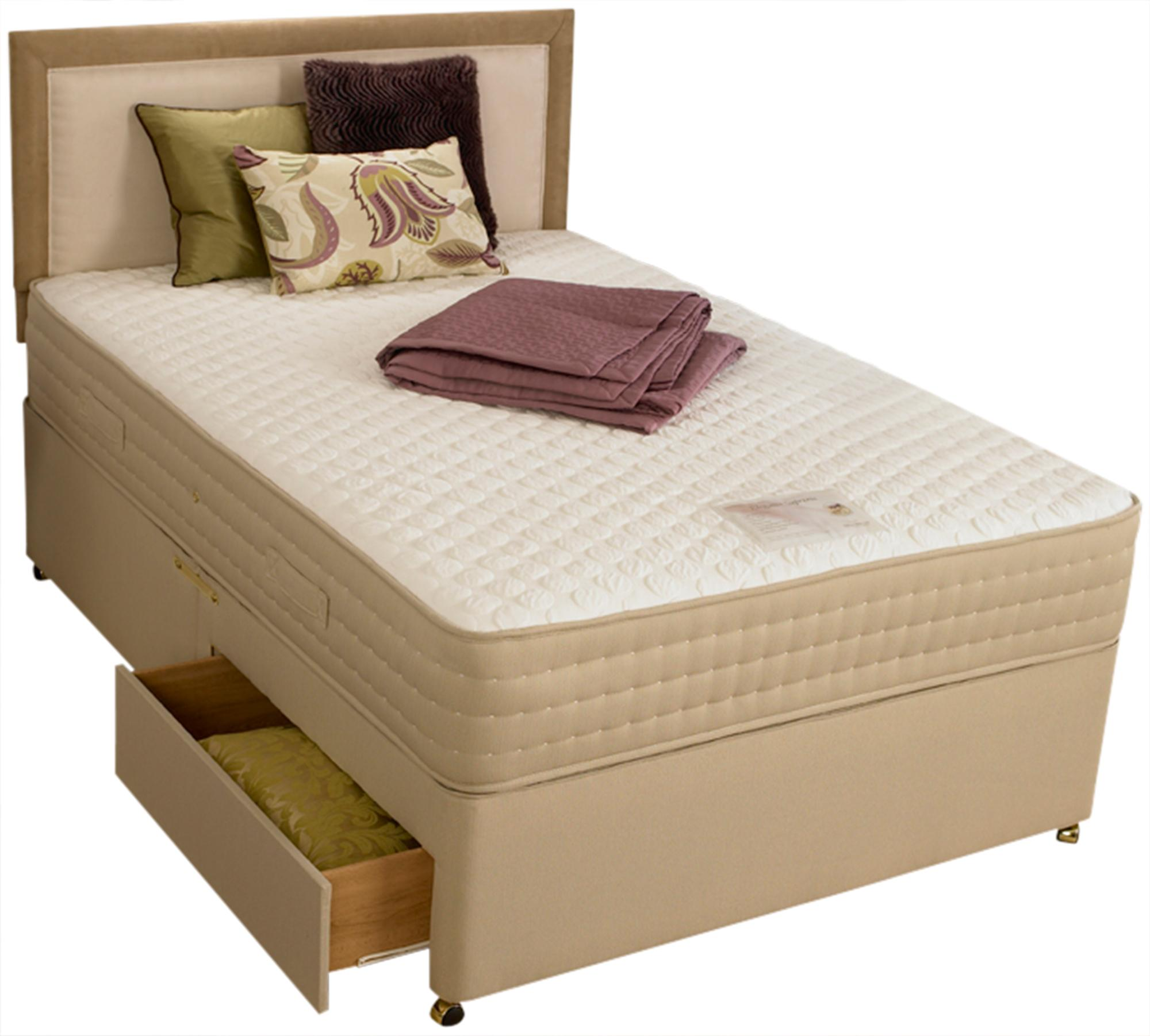 White elegance supreme divan bed set for White divan bed