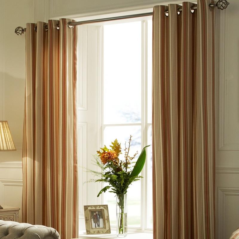 Terracotta Beechwood Ready Made Curtains