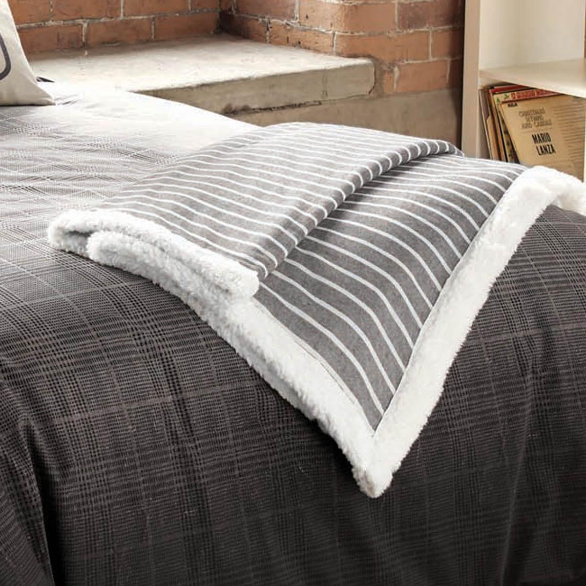 Graphite Mason Quilted Bed Throw