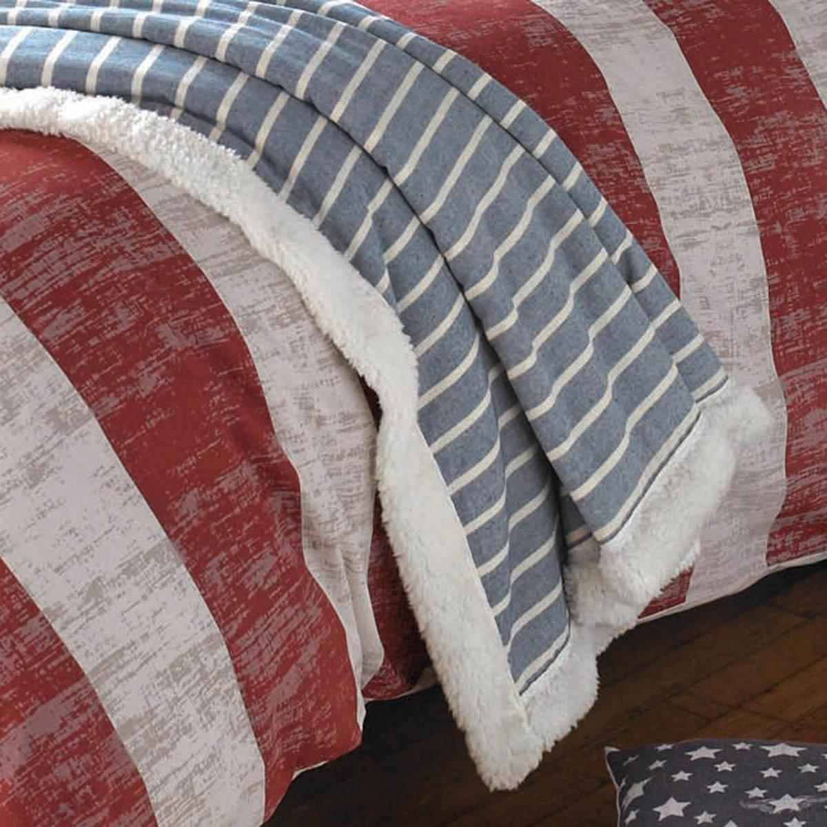 Denim Mason Quilted Bed Throw