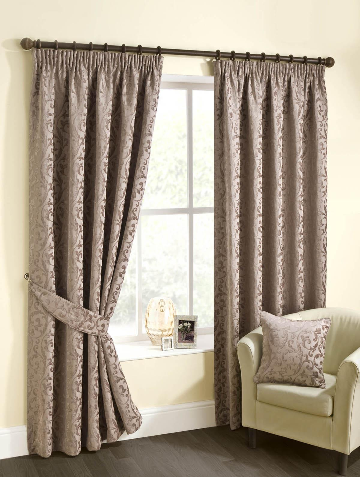 Mink Edison Ready Made Lined Curtains