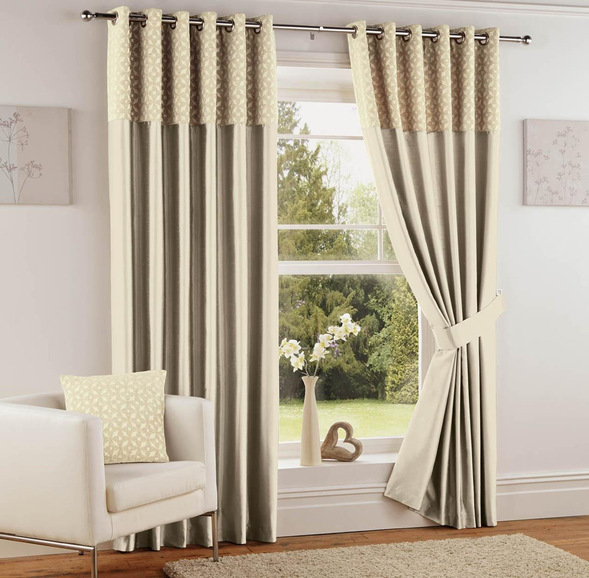 Natural Woburn Ready Made Eyelet Curtains