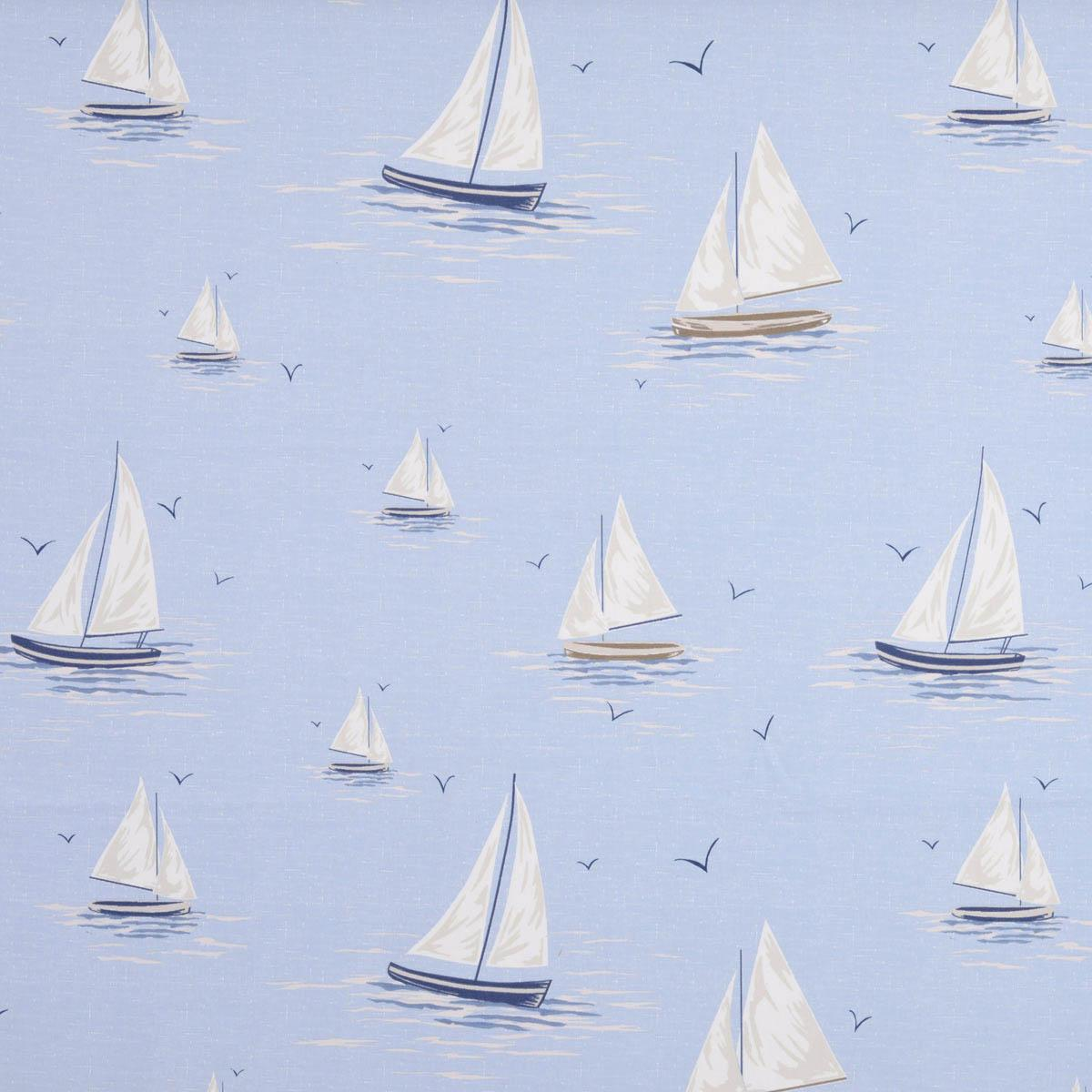 Harbour Blue Clipper Curtain Fabric