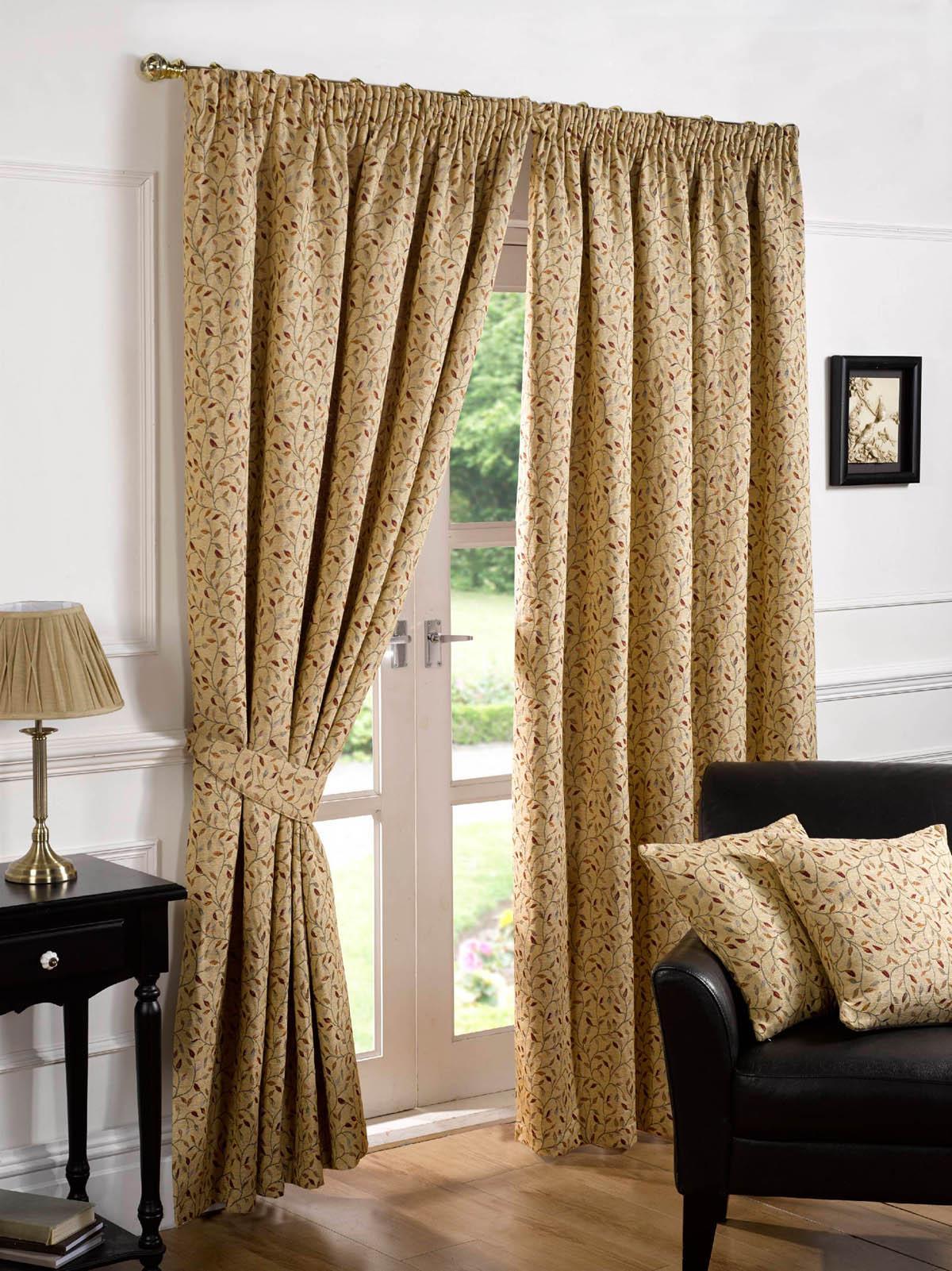 Harrogate Ready Made Pencil Pleat Curtains Fully Lined Multi Ebay