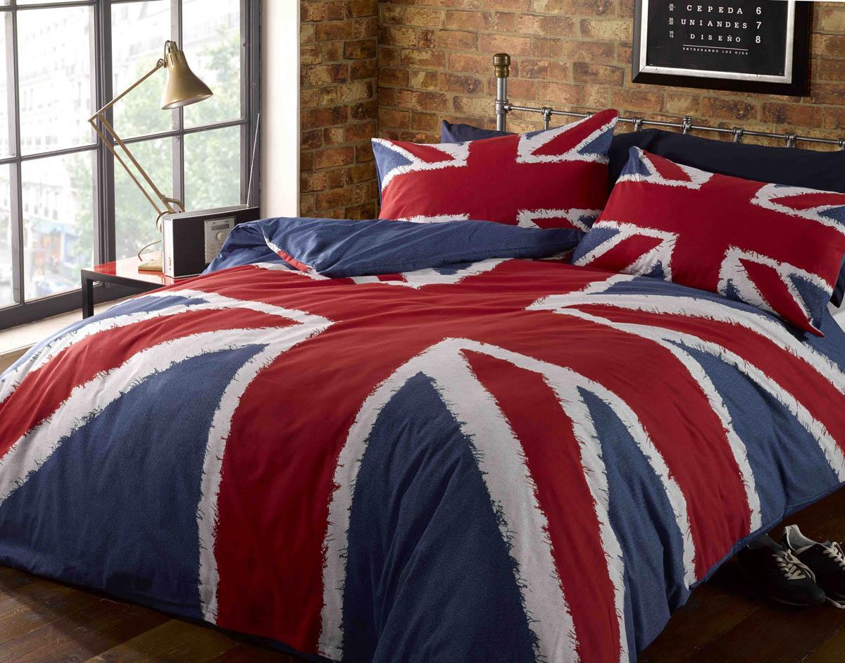 Multi Union Jack Printed Duvet Set