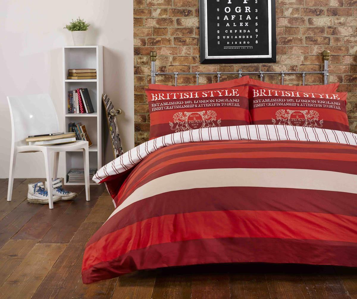 Red Richmond Printed Duvet Set