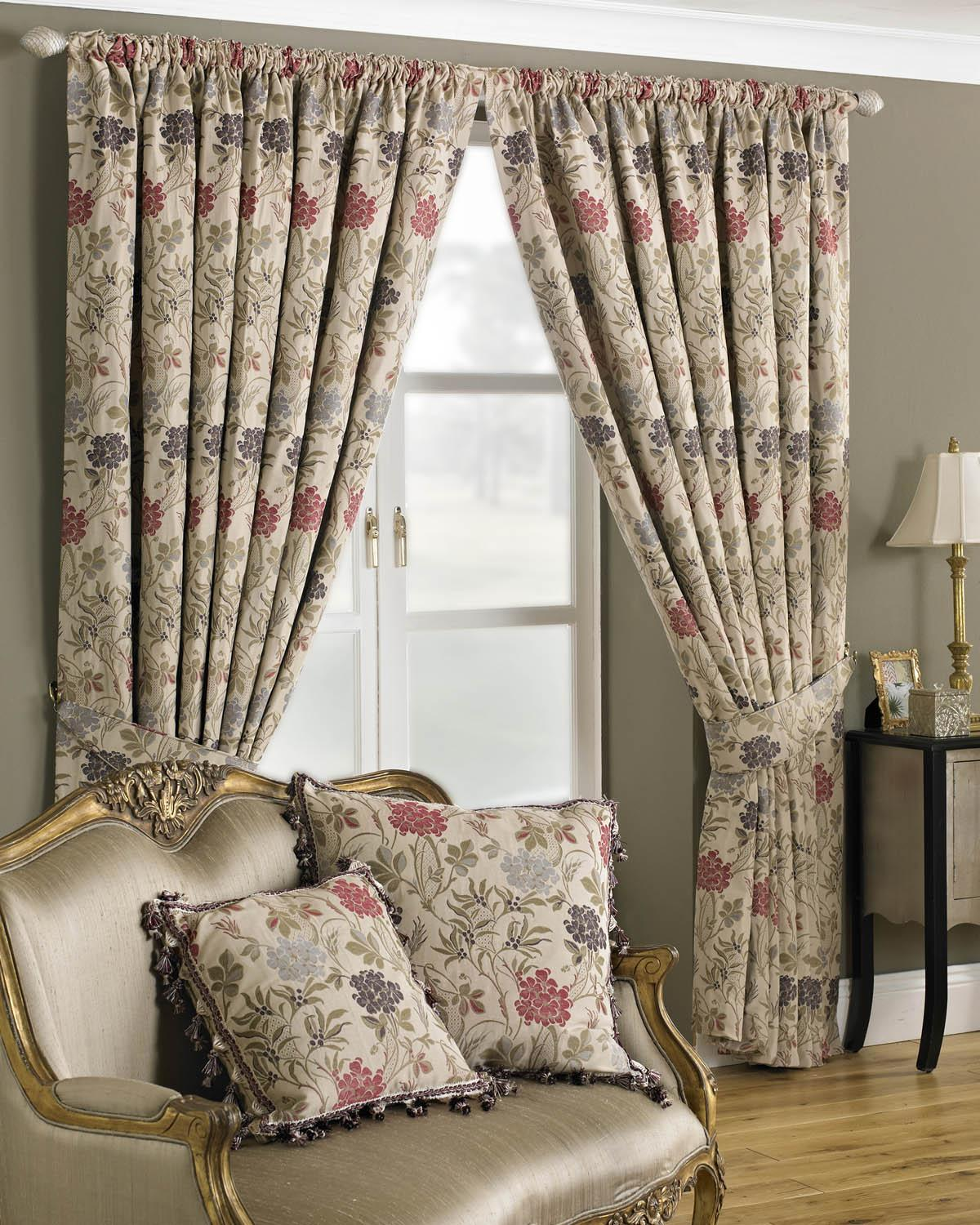 Multi Charlotte Ready Made Lined Curtains