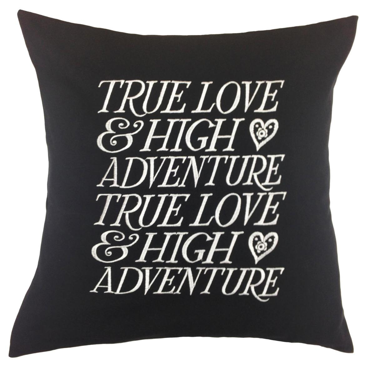 Black Emma Bridgewater True Love Square Cushion