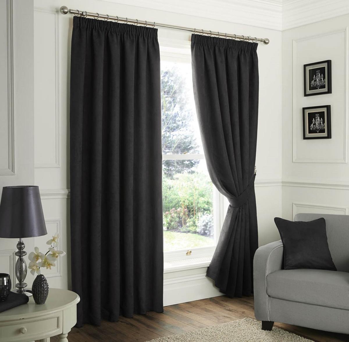 Black curtain lining fabric