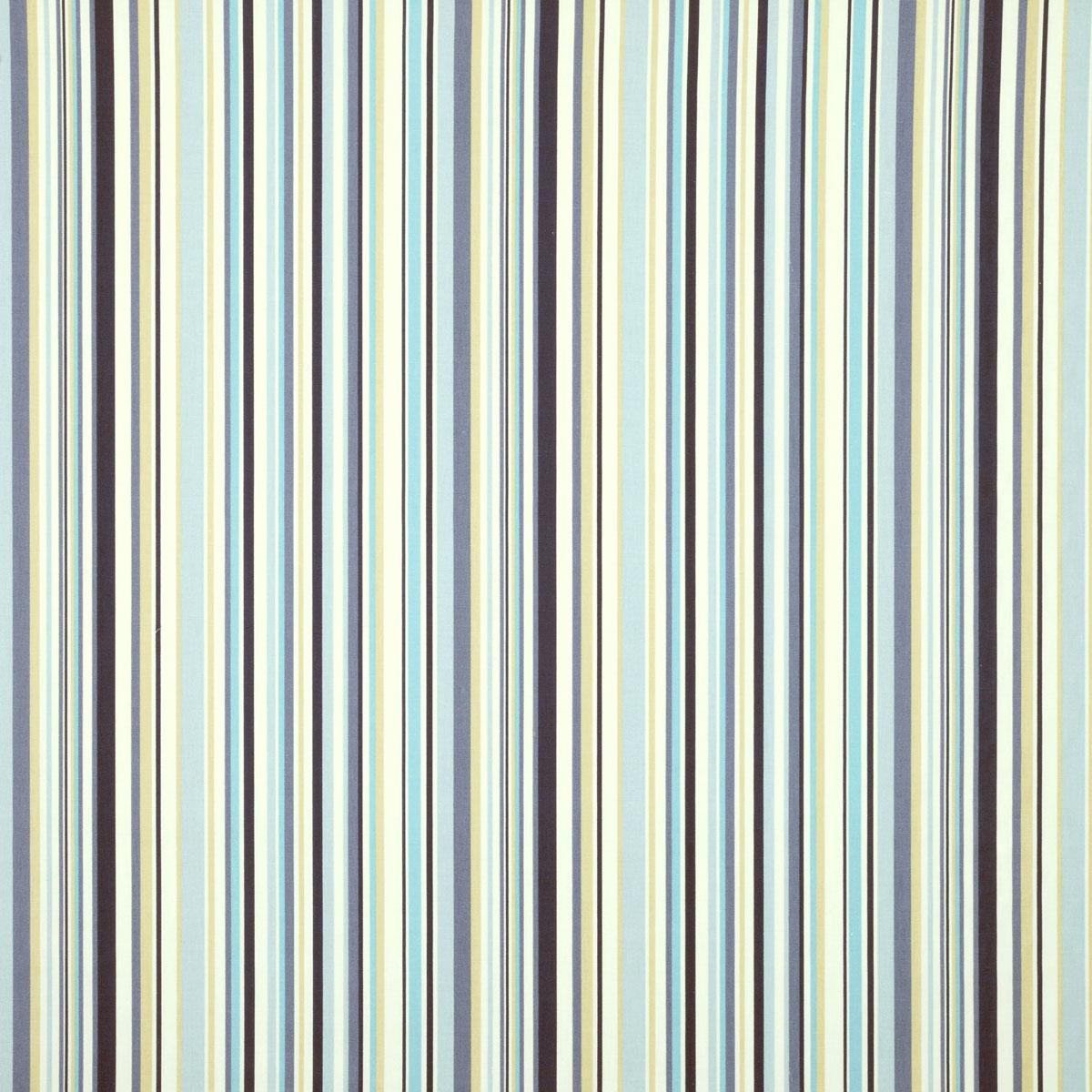Indigo Goa Stripe Curtain Fabric