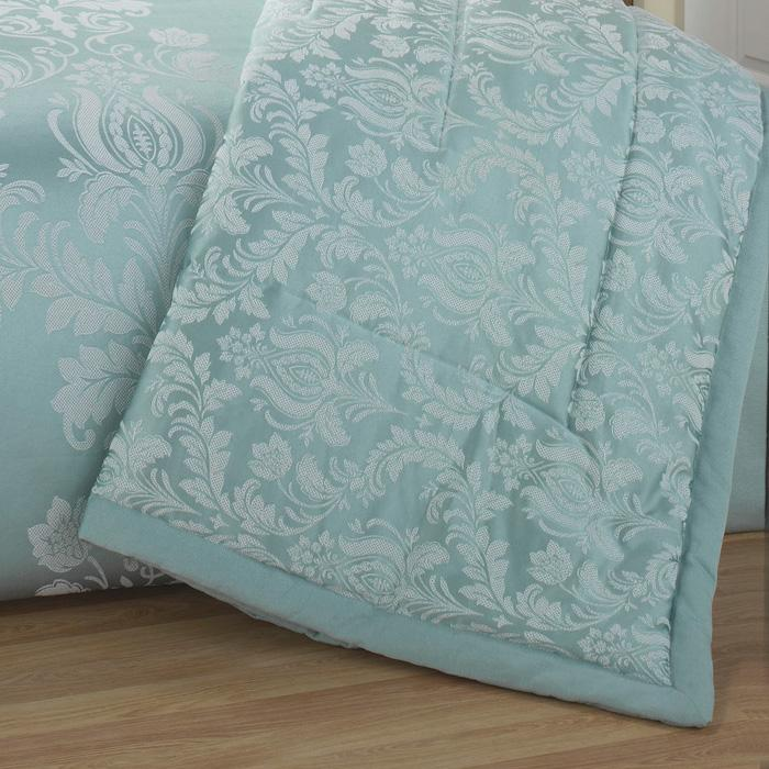 Soft Green Delphine Luxury Quilted Bedspread