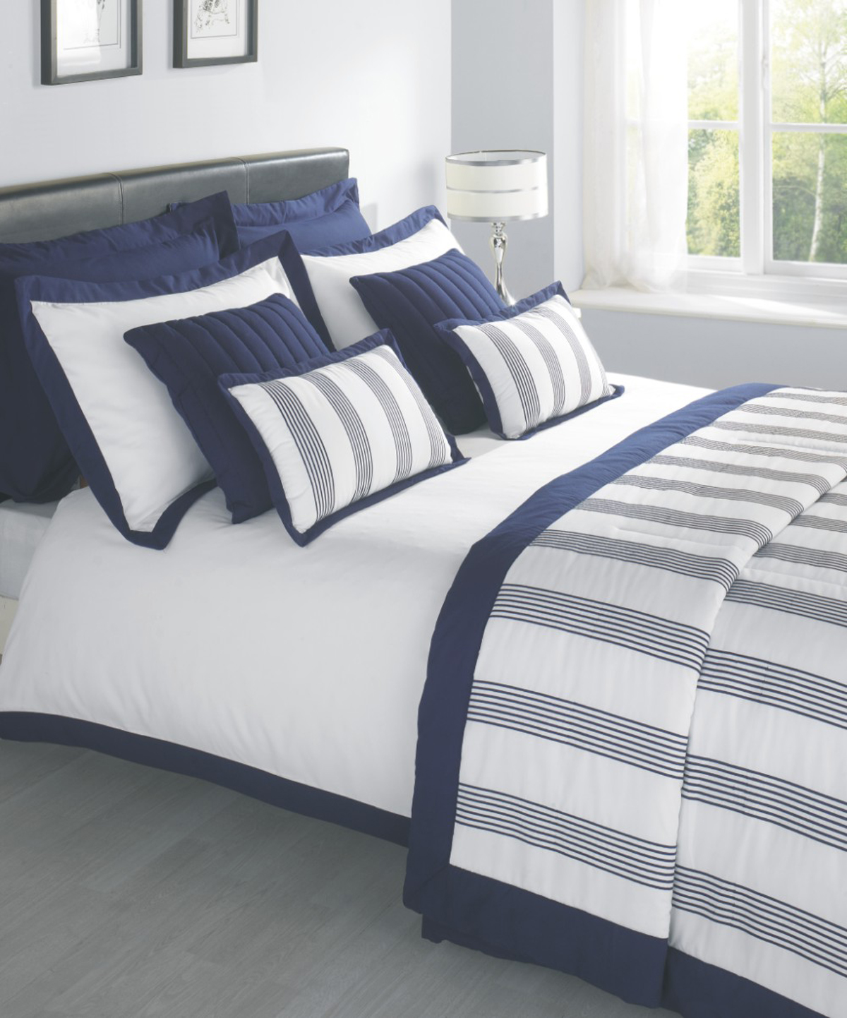 Navy Portland Luxury Bedding By Julian Charles