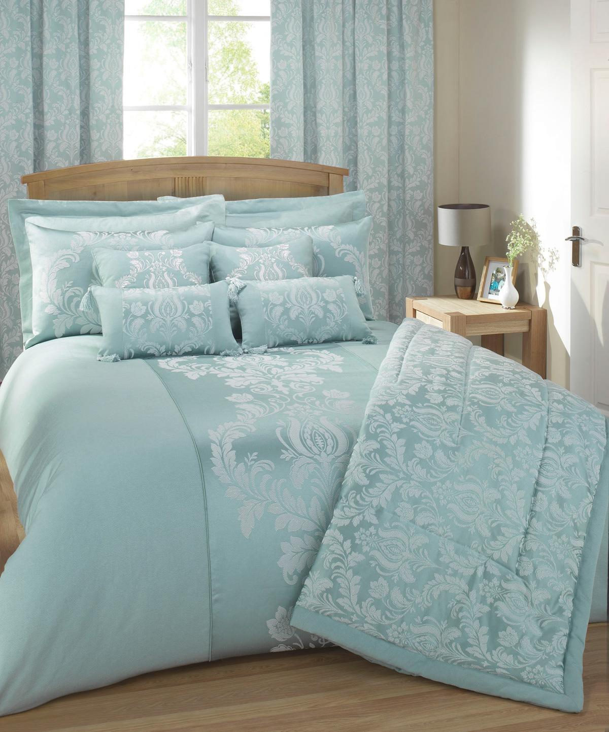 Soft Green Delphine Luxury Bedding by Julian Charles