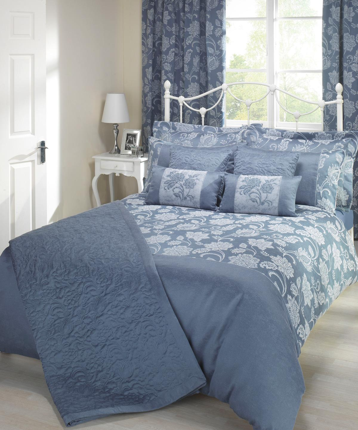 Blue Portofino Luxury Bedding by Julian Charles