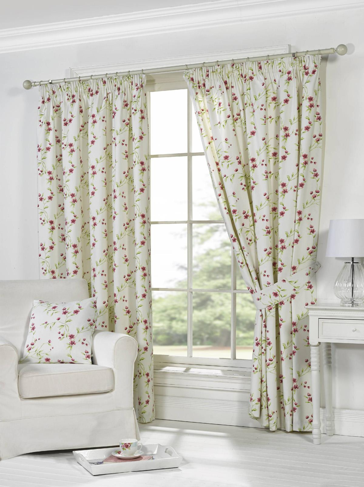 Natural Pippa Ready Made Lined Curtains