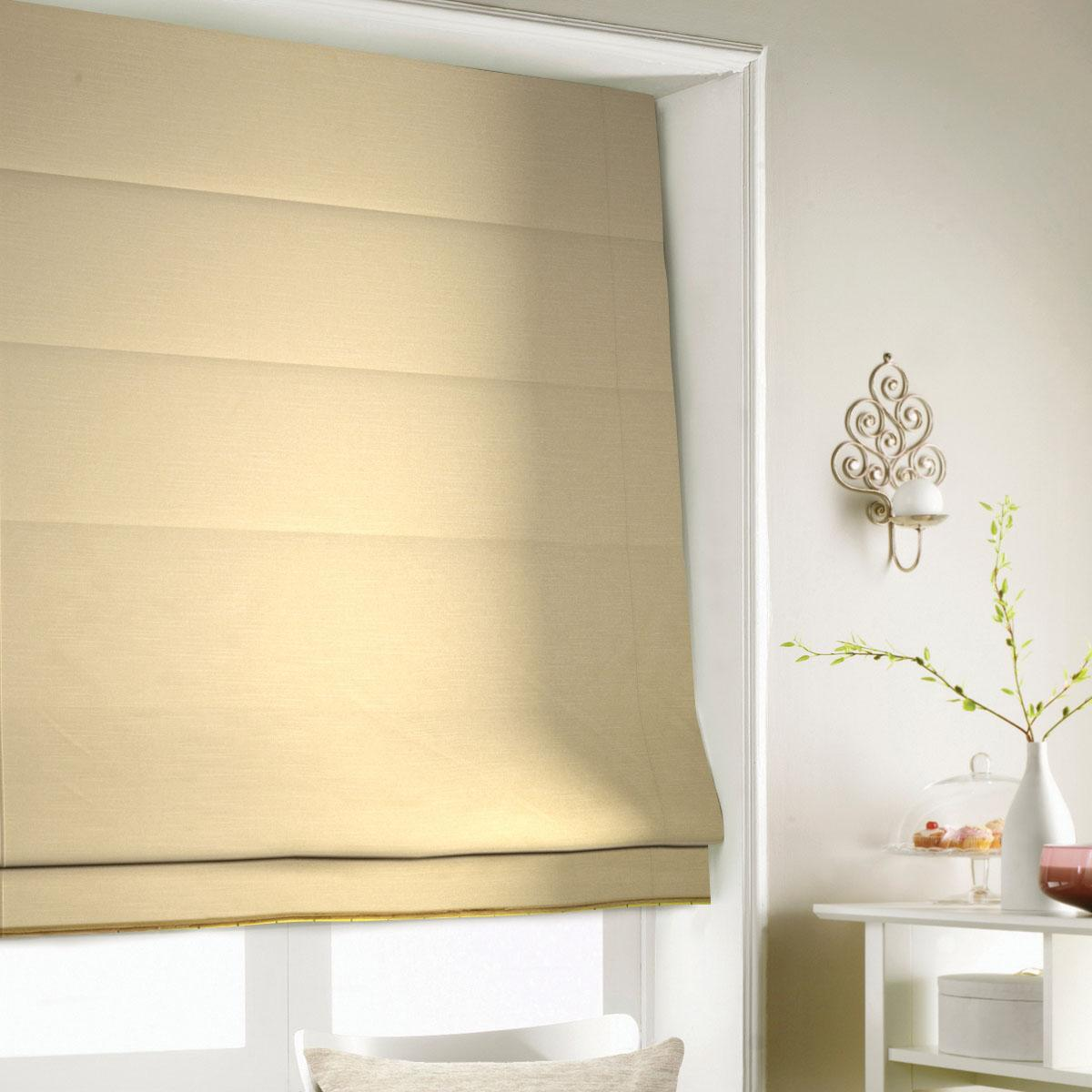 Antique Shine Roman Blind