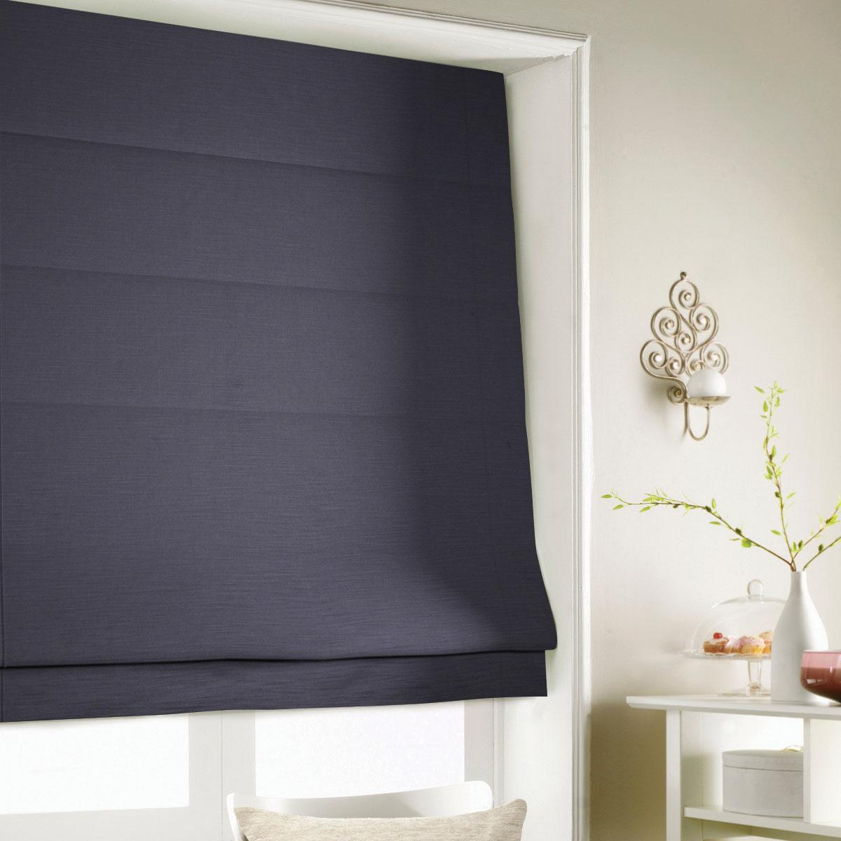 Black Shine Roman Blind