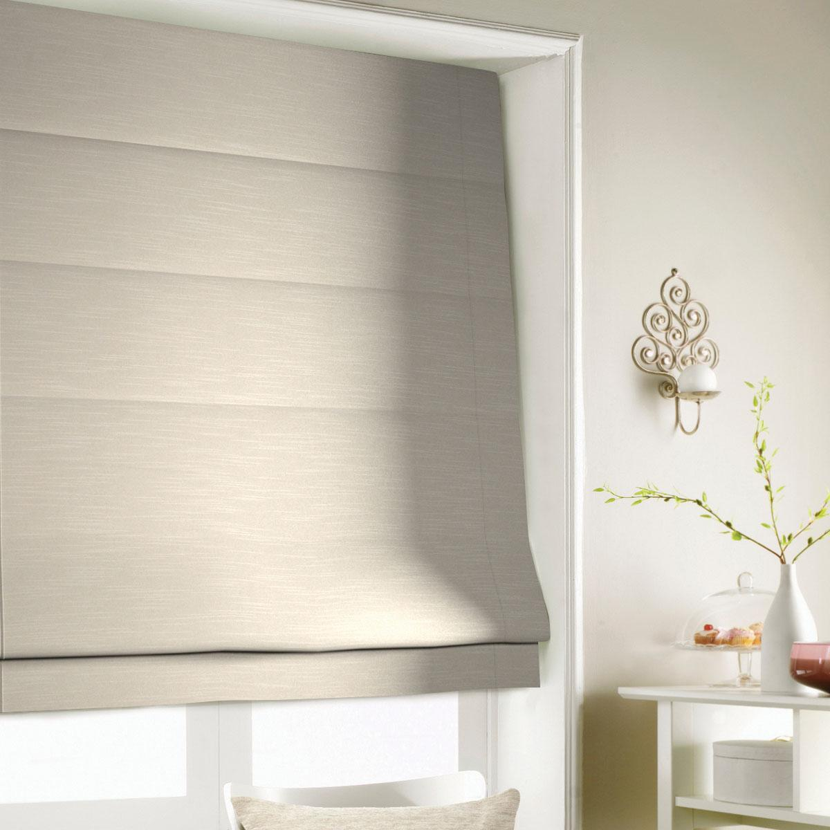 Latte Shine Roman Blind