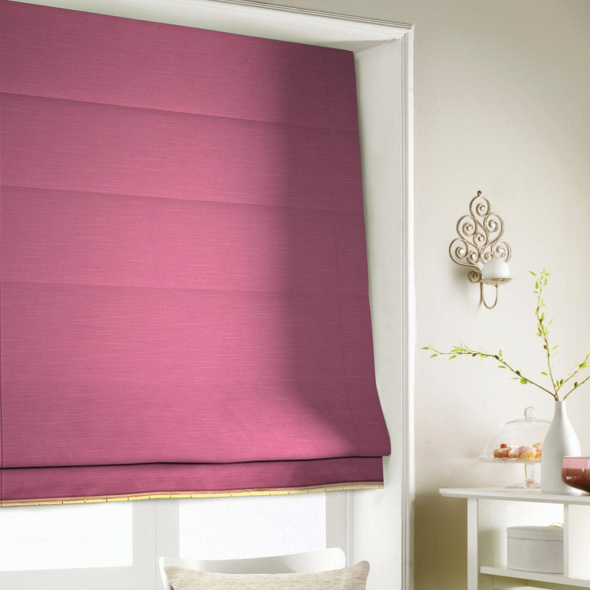 Raspberry Shine Roman Blind