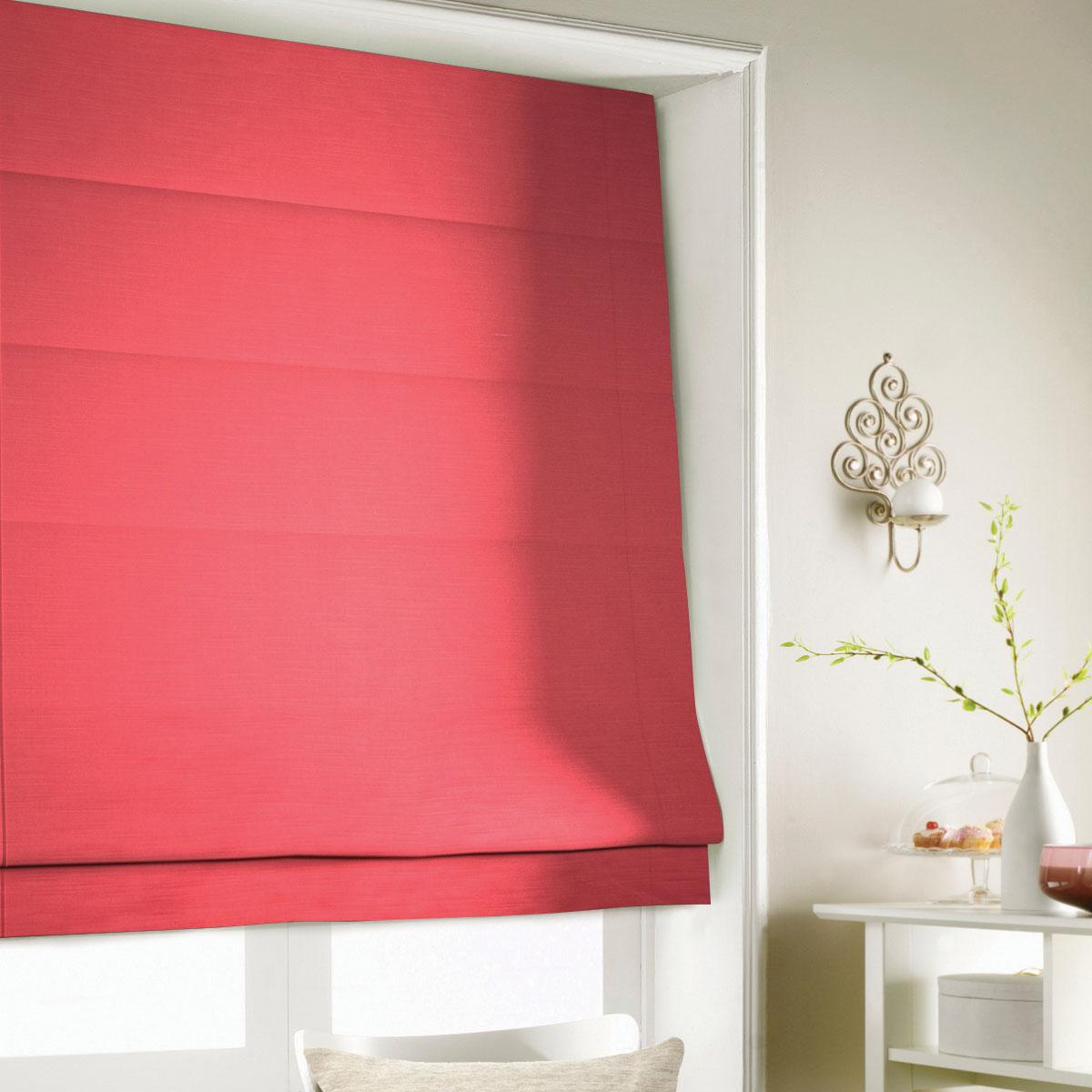 Red Shine Roman Blind