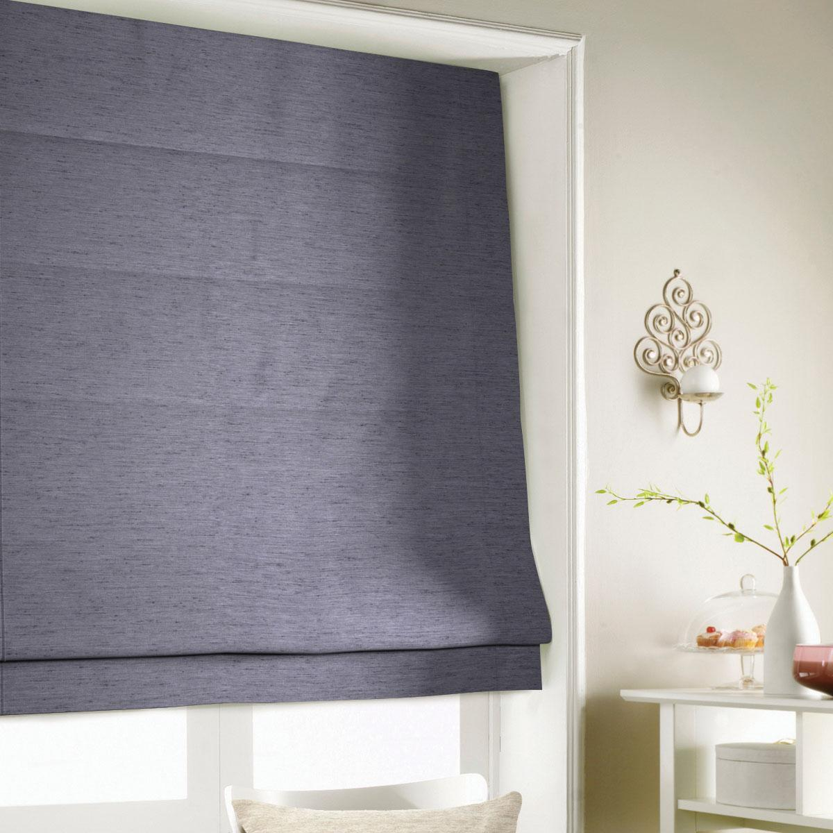 Black Silky Roman Blind