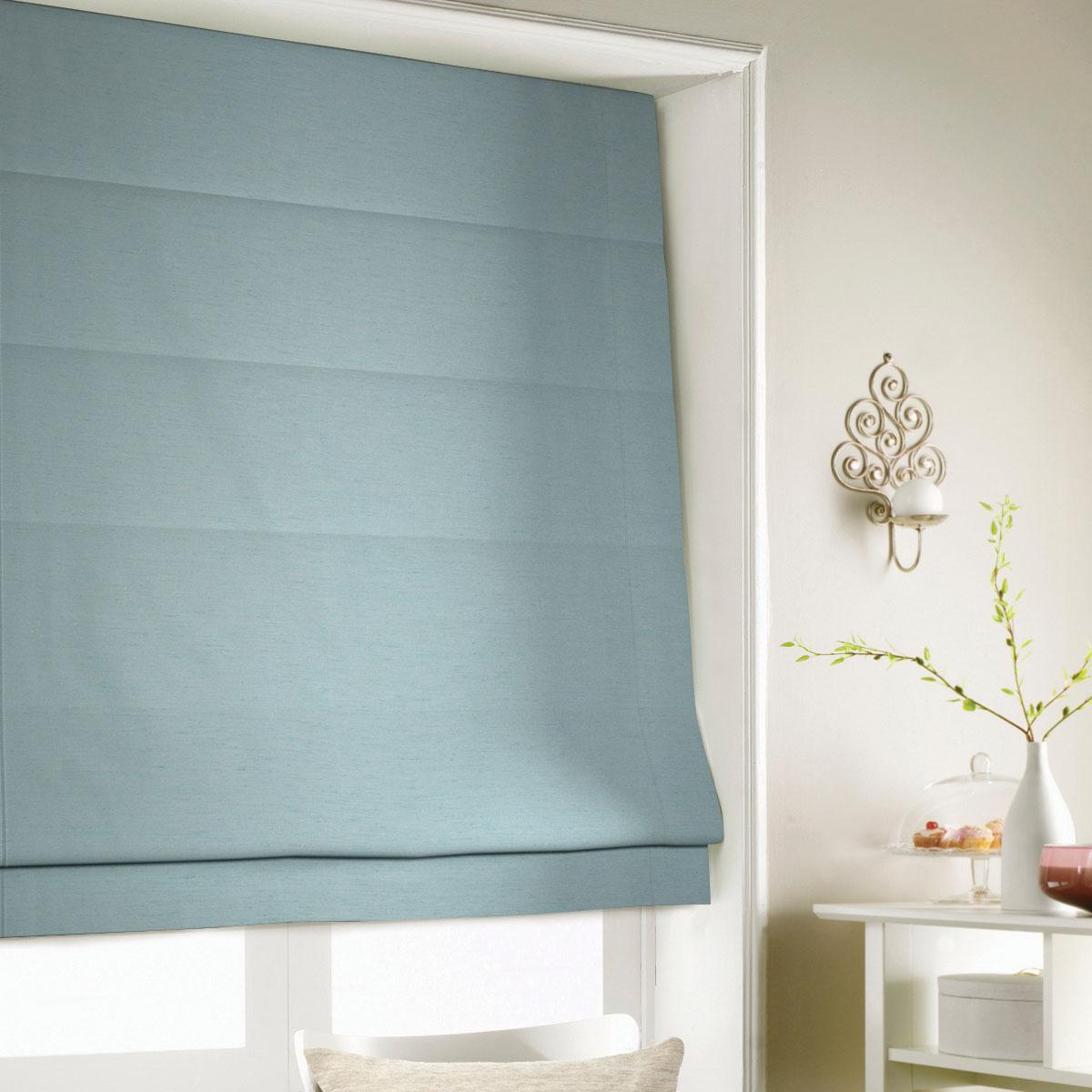 Duck Egg Silky Roman Blind