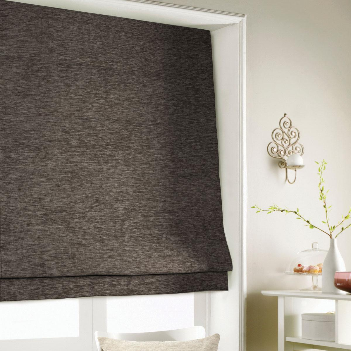 Chocolate Wessex Roman Blind