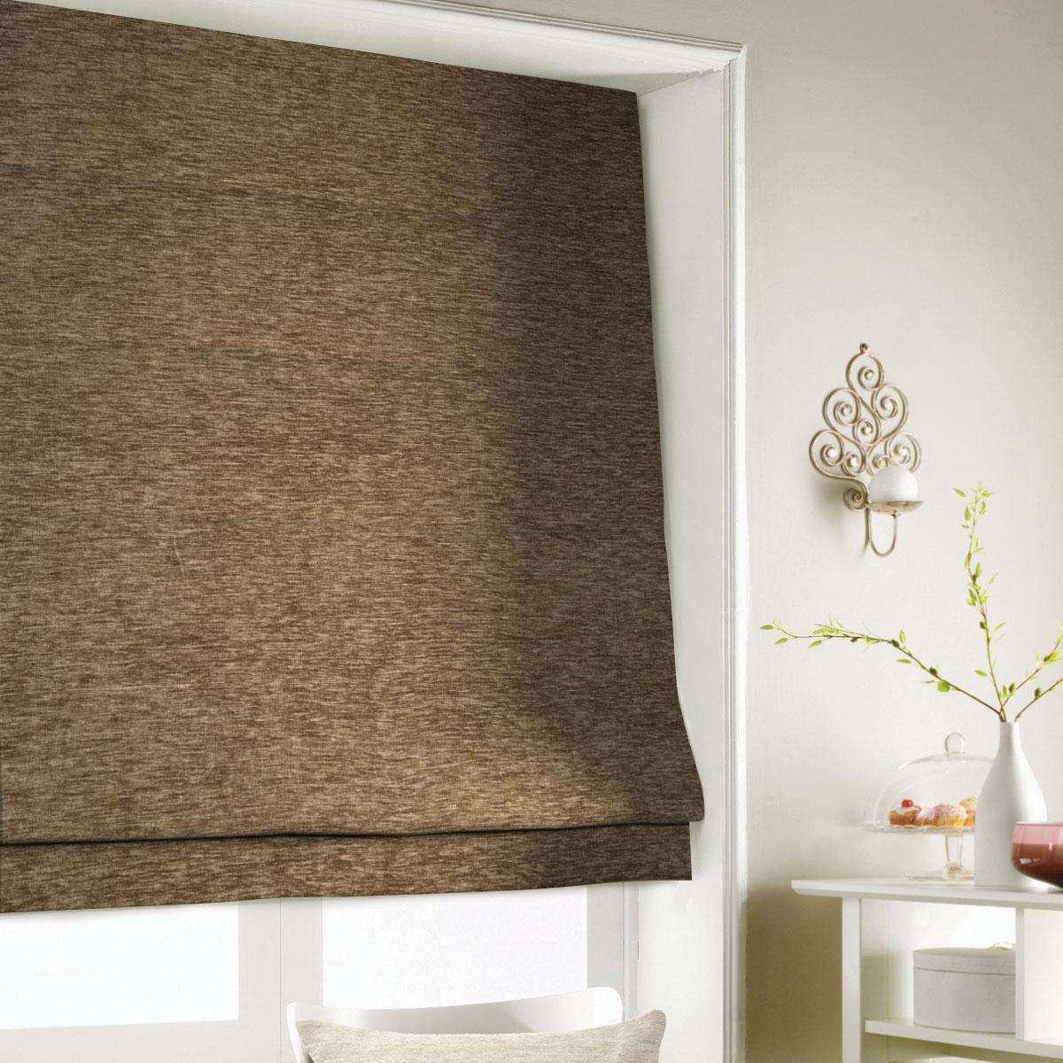 Coffee Wessex Roman Blind