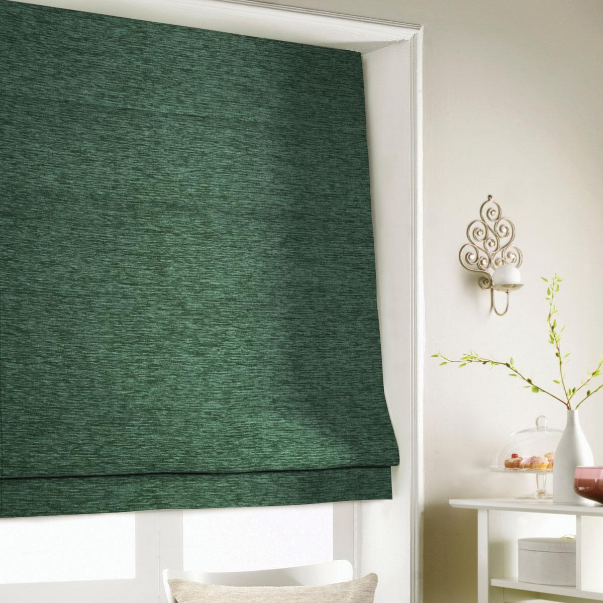 Green Wessex Roman Blind