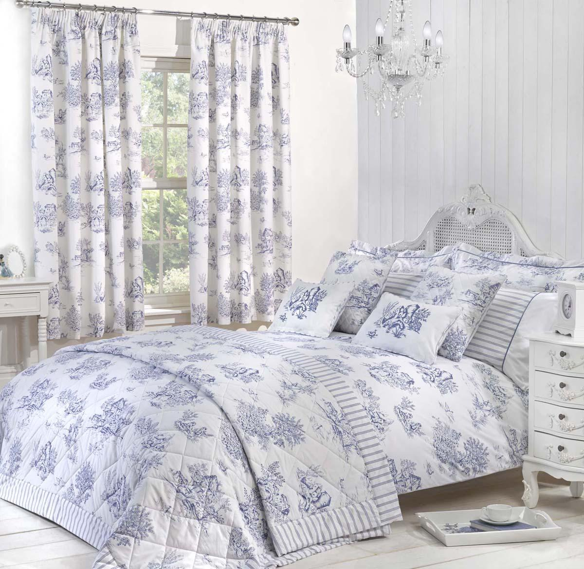 Blue Toile Luxury Bedding by Julian Charles